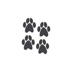 Four paws prints