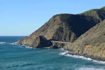 a bridge at california coast