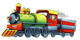 Fototapety Cartoon train - illustration for the children