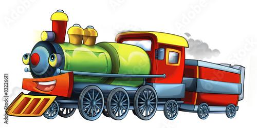 Cartoon train - illustration for the children - 83226611