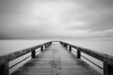 Lunga esposizione in bianco e nero