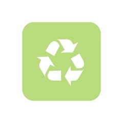 Icono reciclaje verde cuadro