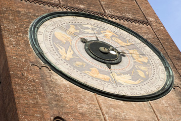 Cremona, Italy: Astronomical clock on the Torrazzo bell tower