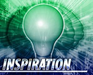 Inspiration Abstract concept digital illustration