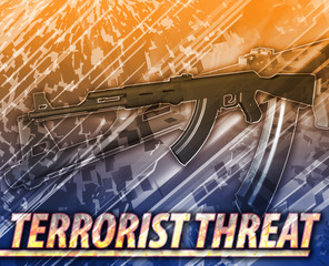 Terrorist threat Abstract concept digital illustration