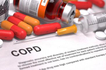 COPD Diagnosis. Medical Concept.