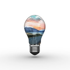Composite image of empty light bulb