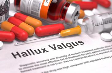 Diagnosis - Hallux Valgus. Medical Concept.