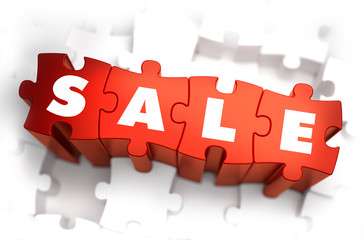 Sale - White Word on Red Puzzles.