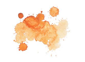 Abstract watercolor aquarelle hand drawn yellow drop splatter