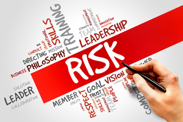 RISK word cloud, business concept