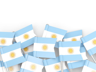 Flag pin of argentina