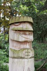 遠野の木造カッパ