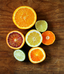 Assorted citrus - lemon, manadarin, orange and lime