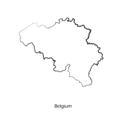Map of Belgium for your design