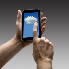 Holding Clouds screen on smart phone