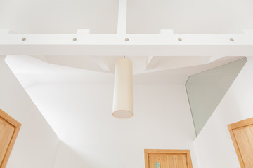 Interior with suspended ceiling