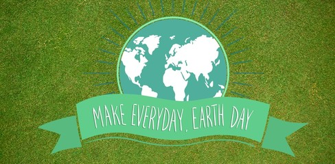 Composite image of earth day graphic