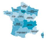 Carte Régions + Départements de France 1