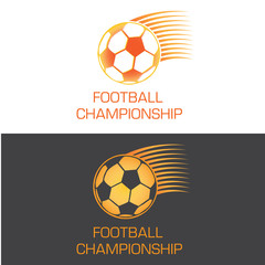 Zooming soccer ball logo for championship