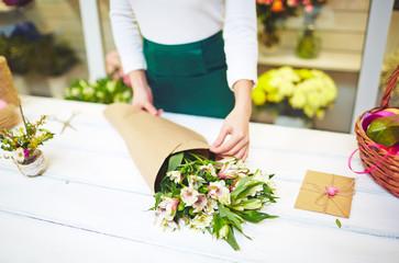 Bouquet of amaryllises