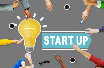 Start Up Growth Launch Success Business Concept