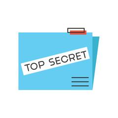 Top secret flat line icon concept