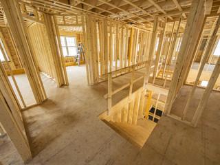 New house interior construction