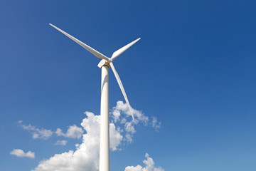 Renewable energy concept - wind generator turbines