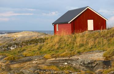 Norwegian red cottage
