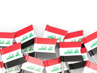 Flag pin of iraq