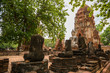 Old Buddha Statue and Old Temple Architecture