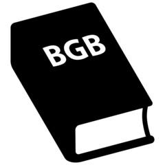 Icon Bürgerliches Gesetzbuch, BGB, schwarz, Vektor, freigestellt