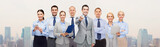 group of happy business people pointing at you