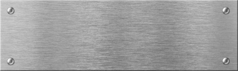 narrow steel metal plate with rivets