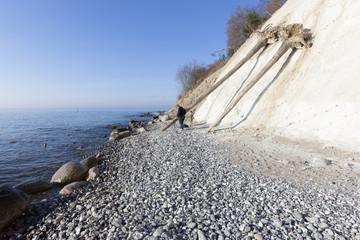 Fotografen an den Kreidefelsen auf der Insel Rügen