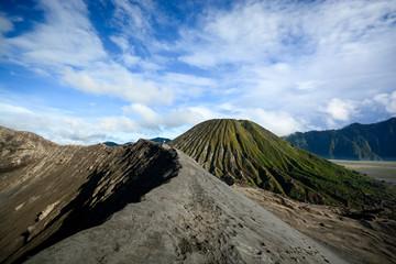 Crater rim of mount Bromo in Java, Indonesia