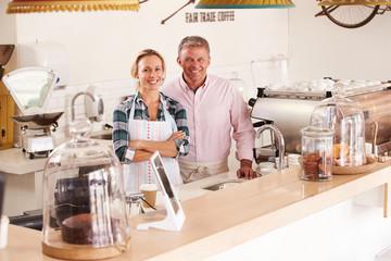 Happy cafe staff