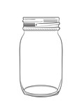 Illustration of hand drawn doodle jar