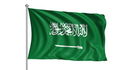 Saudi Arabia flag (loop, with alpha channel)