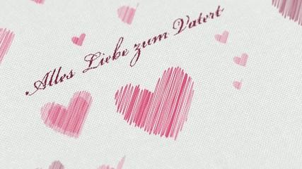Zeichnung - Alles Liebe zum Vatertag mit vielen Herzen