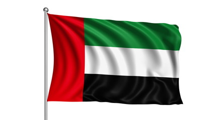 United Arab Emirates flag (loop, with alpha channel)