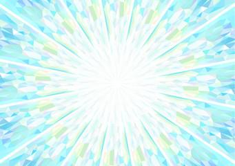 キュビズム背景_放射_明るいブルーとイエロー