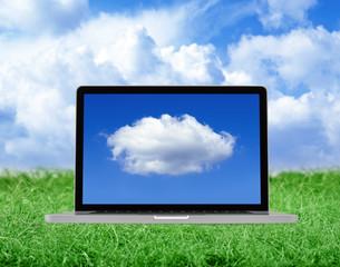 Cloud computing -  clipping path