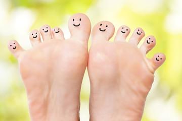 lustige Füße