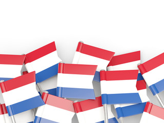 Flag pin of netherlands