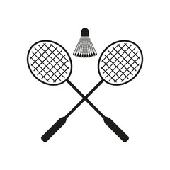 The badminton icon. Sport symbol. Flat