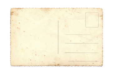 old postcard isolated