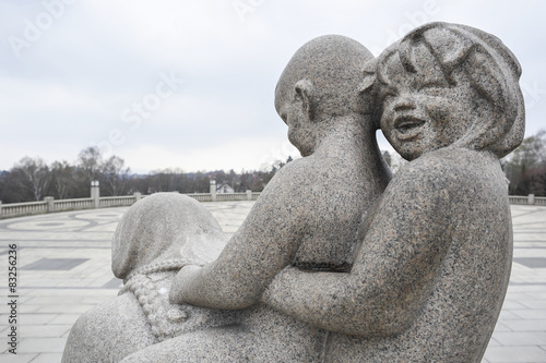 Poster Sculpture of children in Vigeland Park Museum