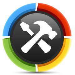 hammer screwdriver  icon